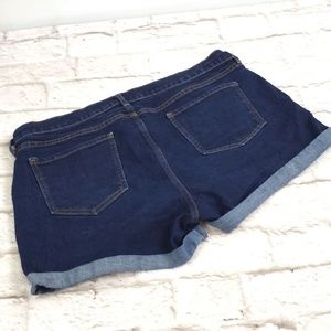 Old Navy women's Dark Denim Jeans Shorts size 16